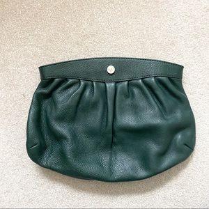 Leonello Borghi Leather Clutch Green